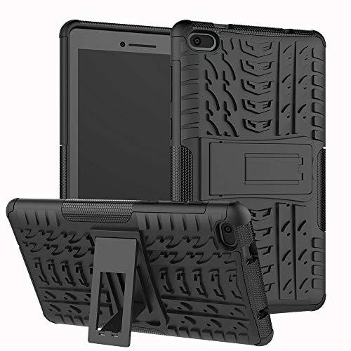 Case for Lenovo Tab E7 (TB-7104f) - Heavy Duty Hybrid Tough Rugged Dual Layer Armor - Kickstand Cover - Black