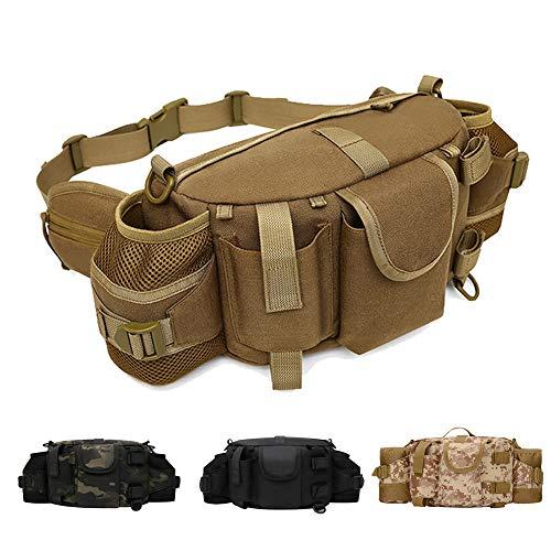 ANTARCTICA 1050d Grand Militaire Tactique waistbag Sac Fanny Pack de Sling Pack Gamme Sac caméra EDC avec bandoulière pour en Plein air, Sport, Jogging, Marche, randonnée, Cyclisme (Tan)