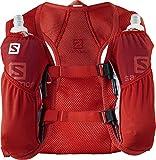 Salomon, Leichter Lauf-Rucksack 3L, AGILE 2 SET, Rot (Fiery Red), LC1093100