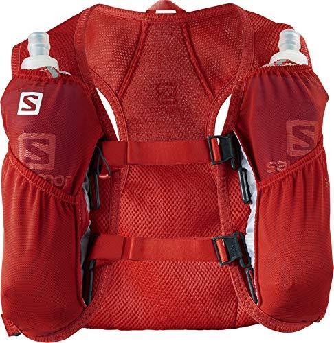 Salomon AGILE 2 SET Mochila pequeña para carrera de montaña, Práctica y ligera, Capacidad 2l, Bolsa de hidratación incluida