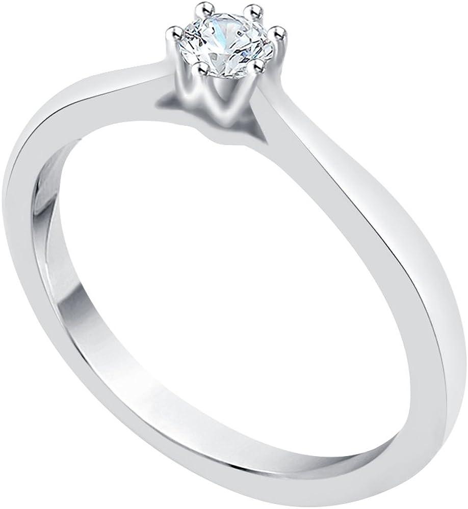 KATARINA Diamond Solitaire Promise Ring in 14K Gold (1/6 cttw, J-K, SI2-I1)