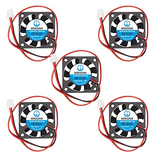 WINSINN 40mm Fan 24V Hydraulic Bearing Brushless 4010 40x10mm - High Speed (Pack of 5Pcs)
