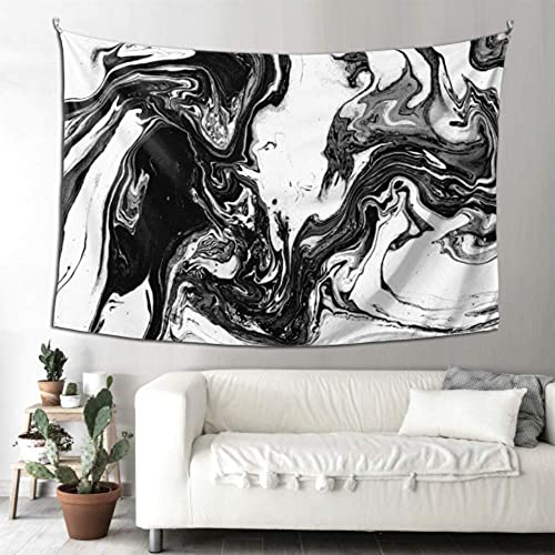 N\A Well Tapestry White and Black Hallucinatory Liquid Marble USA Wall Decor Wall Art Farmhouse Decor Wall Hanging Art Home for Living Room Bedroom
