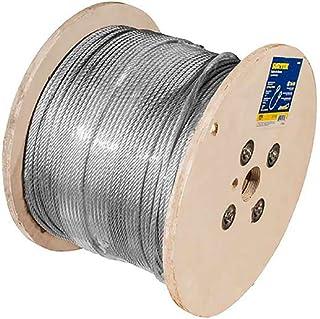 """Surtek CAP118 Surtek Cable acero recubrimiento PVC, 7x7, cal 1/4"""", 75m, color, pack of/paquete de 1"""