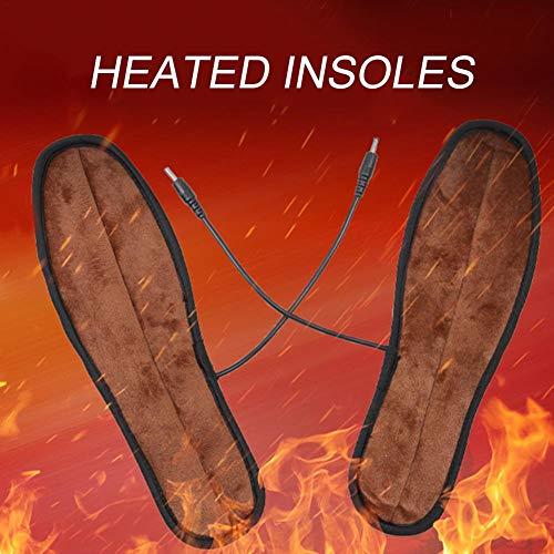iBoosila Semelles Chauffantes Électriques Chauffe-Pieds d'hiver Réchauffeur Pieds Rechargeables Chaussures De Maintien De La Chaleur Botte Coussins Chauffants Lavable Réutilisable pour First-Rate