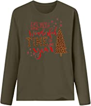 Franterd Women's Jingle All The Way Christmas Shirt Casual Loose Ugly Xmas Lattice Long Sleeve Raglan Top Blouse Pullover S-XXXL