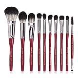 Principiante 10 De Cepillo Del Maquillaje Del Maquillaje De Las PC De Nylon Facial Belleza Herramienta Blush Loose Powder Eye Brush,1