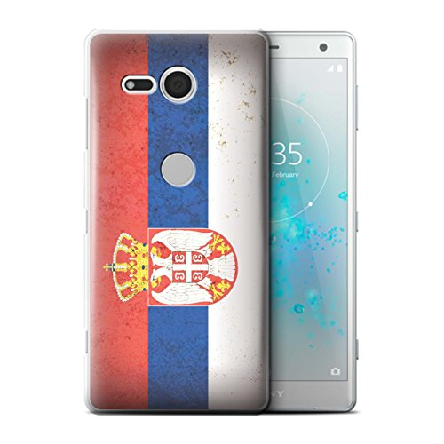 Stuff4® hoes/case voor Sony Xperia XZ2 Compact/Sebia/Servisch patroon/Europa vlag collectie