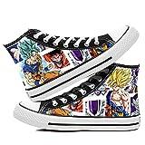 SevenLeo Hombre Zapatillas Lona Zapatos Casuales Zapatos Mujer Zapatos Adolescente Zapatillas Deporte Mujer Unisex Dragon Ball Goku Anime Shoes 36