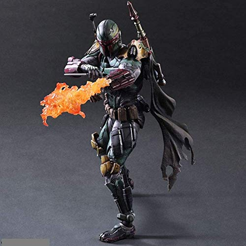 Poppa Change Star Wars Bounty Hunter Boba Fett Movable Toy Statue Model Table Decoration, PVC Collection Craft Decoration Gift Height About 28cm image