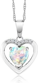 opal diamond pendant