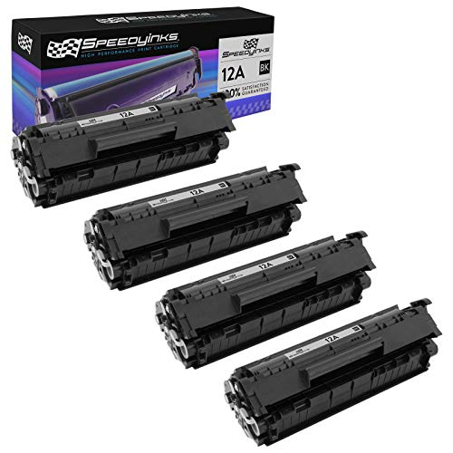 Speedy Inks Compatible Toner Cartridge Replacement for HP 12A (Black, 4-Pack)