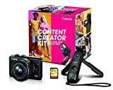 Canon EOS M200 Mirrorless Digital Vlogging Camera, Content Creator Kit, with Tripod, Memory Card, and Detachable Wireless Remote