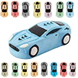 KINIA 15 Jumbo Race Car Sidewalk Chalk - Party Favors Goody Bag Pack - Birthdays, Easter, Christmas & More - Individually Wrapped - Washable - Beautiful Gift Box (Race Car Multicolor)