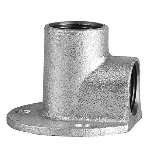 Edelstahl Fitting #471 Deckenwinkel 3/4 Zoll 90° Wandscheibe Gewindefitting