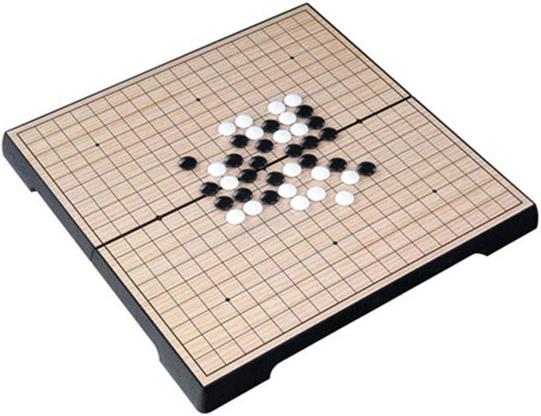 Schach Brettspiel Set Magnetisches Go-Game-Set mit einzelnen konvexen magnetischen Kunststoffsteinen und Go-Board Schachbrett Weiqi Lernspiele für Kinder (Farbe, Gre   25cm25cm2cm)