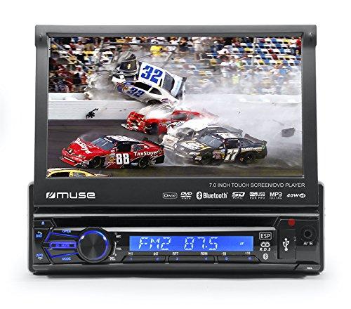 Muse M-728 DR Kfz-radio met uittrekbaar scherm (RDS, DVD, DivX, CD, MP3, Bluetooth)