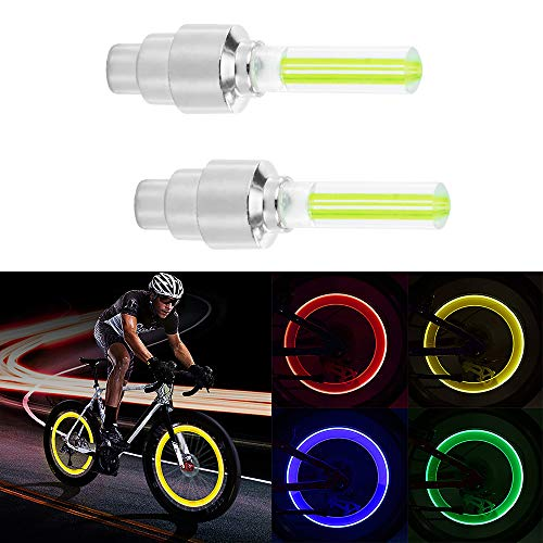 Sunsbell Sunsbell LED-Radlicht, 4PCS LED-Blitzreifen Radventilkappenlicht für Auto Fahrrad Motorrad Radlicht Reifen(Gelb)