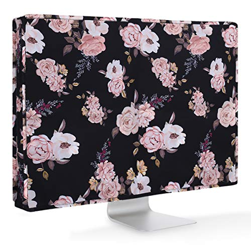 MOSISO Monitor Stofhoes Beschermhoes 26-29 Inch Black Base Peony