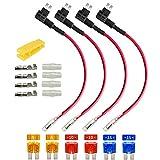 Gebildet 4pcs 12V 24V Mini Micro 2 Portafusibili a Lama con 16AWG Filo ACZ, Add-a-circuit ...