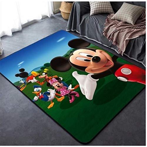 ZRY Alfombra Sala De Estar Estudio Dormitorio Mesita De Noche Baño Alfombra Antideslizante Moda Animación Europea Y Americana Habitación Infantil Alfombra Disney Mickey Mouse