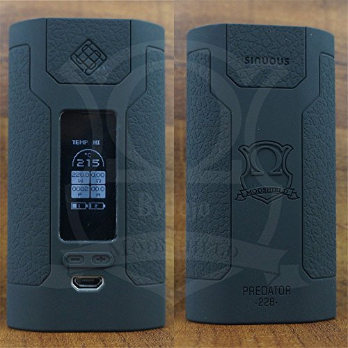 ModShield for Wismec Predator 228 TC 228W Silicone Case By Jojo Skin Wrap Sleeve Cover (Black)