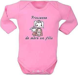 7d668281fb16b Body Fille, Manches Longues, brassière Enfant, Bodies bébé, Maman, mère,