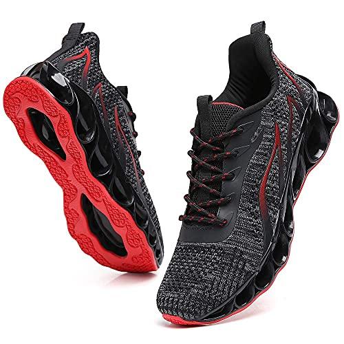 Wanhee - Zapatos deportivos para hombre, negro, 12