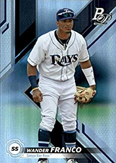 2019 Bowman Platinum Top Prospects - Wander Franco - Tampa Bay Rays Baseball Rookie Card RC #TOP9