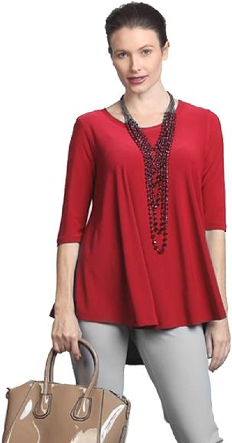 IC Collection HighLow Top in Red  6899TRED
