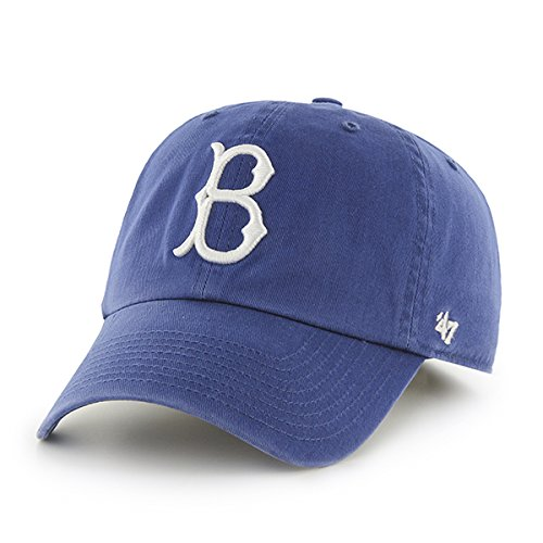 '47 MLB Brooklyn Dodgers Brand Coopers Town Logo Clean Up Royal Adjustable Hat