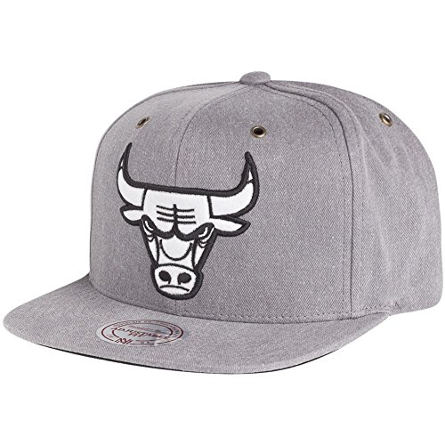 Mitchell & Ness Gorra de Chicago Bulls EU496, color gris negro Talla...
