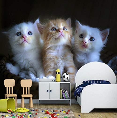 Makeyong aangepast behang Infantil, katten kittens rieten mand muurschilderingen voor woonkamer slaapkamer bank achtergrond decoratief papier 250x175cm