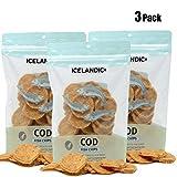 Icelandic+ Cod Fish Chips Dog Treat 2.5-oz Bag (Bulk Pack of 3-2.5 oz Bags)