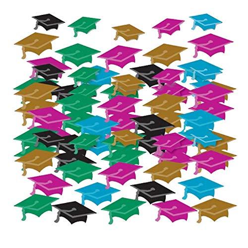 amscan 99.816 Confetti en Forme de Mini-Chapeaux pour Fin d'étude.