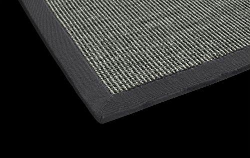 DEKOWE Sisal Küchen Teppich Mara auch fürs Esszimmer oder Flur geeignet (80 x 150 cm, 009 anthrazit)