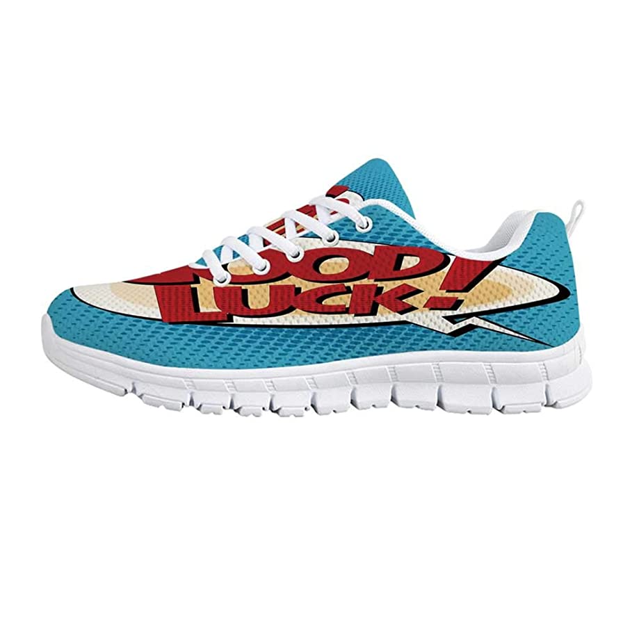 TecBillion Girls Comfortable Sports Shoes,Young Girl with Tattoos and Butterflies Free Your Soul Inspired Long Hair Feminine for Men & Boys,US Size 6.5