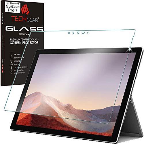 TECHGEAR Panzerglas für Surface Pro 7, Bildschirmschutzfolie aus gehärtetem Glas [9H Festigkeit] [Crystal Clarity] kompatible mit Microsoft Surface Pro 7