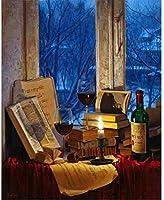 大人のための大きな木製のジグソーパズル1000個の赤ワインの本家の装飾部屋の装飾の写真クリスマスプレゼント