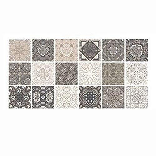 qizhangUS Retro Self Adhesive Tile Floor Stickers Bathroom Waterproof Decals (HZ015)