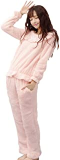 Ropa de Dormir para Mujer, Manga Larga, Cuello Redondo, cálido, Grueso, Pijama, Conjunto de Ropa de Invierno, Informal, de Lana de Coral, Pijamas para el hogar, Pijamas