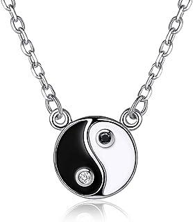 Cross Necklace argent bicolore Infinity Amour Coeur Pendentif femmes cou chaîne Jian