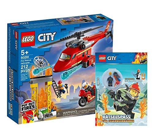 Collectix Lego 60281 - Juego de helicóptero de bomberos (cubierta blanda), diseño de Lego City