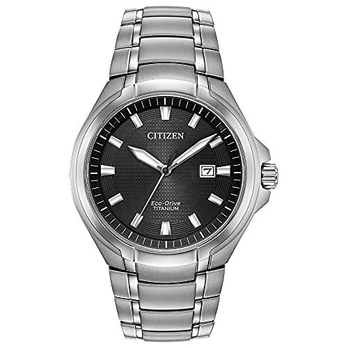 Citizen Eco-Drive Paradigm Quartz Mens Watch, Super Titanium, Modern, Silver-Tone (Model: BM7431-51E)