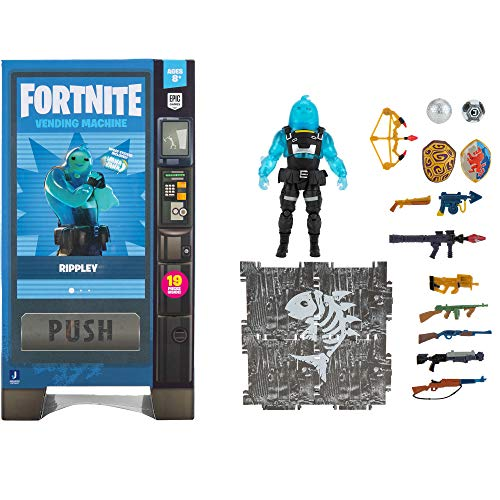 Fortnite Vending Machine, Includes Highly-Detailed and Articulated 4-inch Rippley Figure, Weapons, Back Bling, Building Materials. More Outfits Dropping Soon