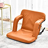 4HOMART Reclining Stadium Seat Bleacher Chair with Back Support Foldable Sport Chair Shoulder Straps Reclining...