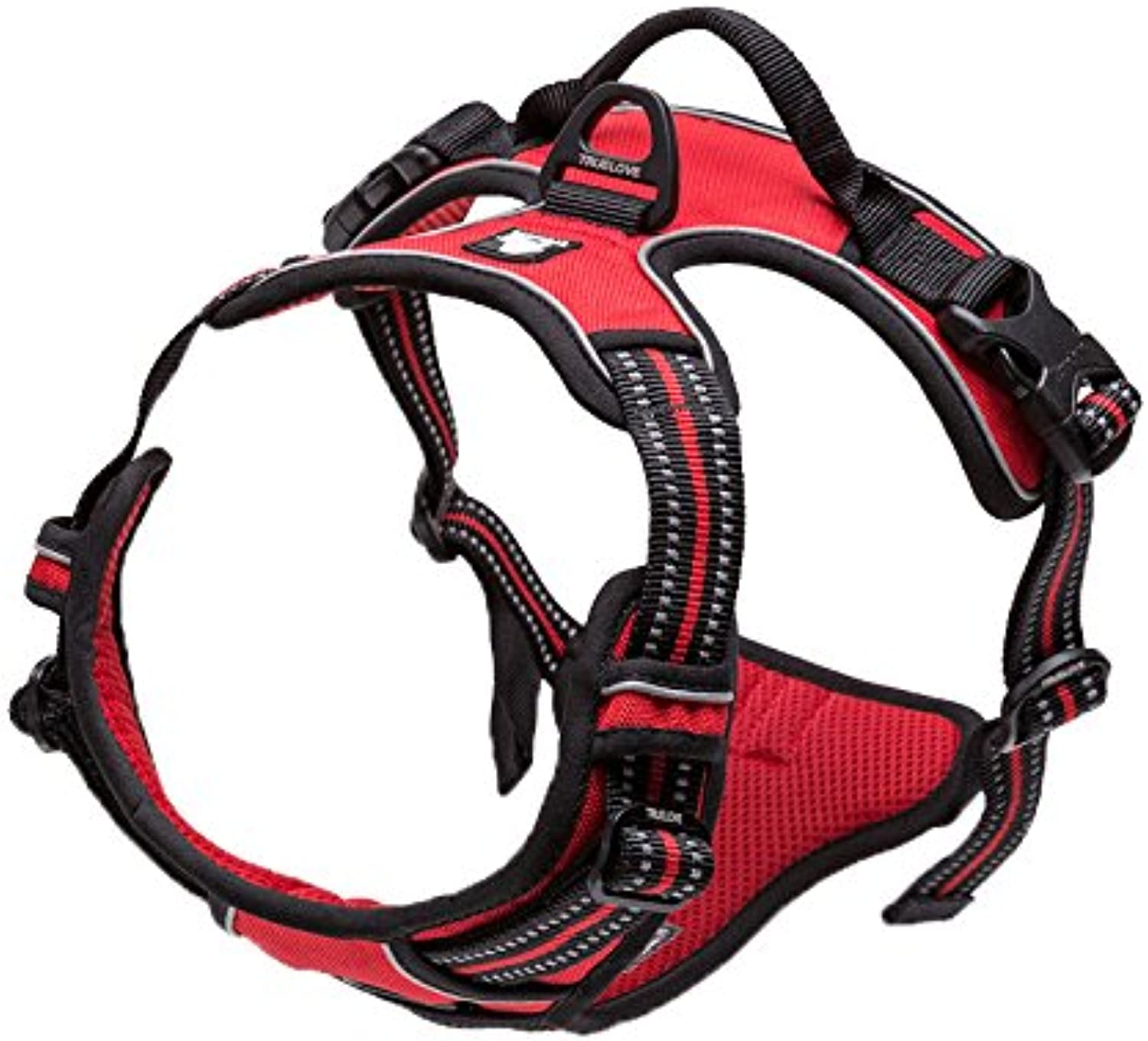 Pet Harem Pet Chest Harness Dog Leash Strap Explosion Proof Red Dog Leash Chest Back Multiple Sizes and colors are Available (color   Red, Size   XS)