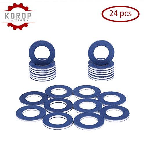 90430-12031 Aluminum Oil Drain Plug Gaskets(24Pcs) Fits for TOYOTA LEXUS SCION Crush Washer SealsReplaces# 9043012031