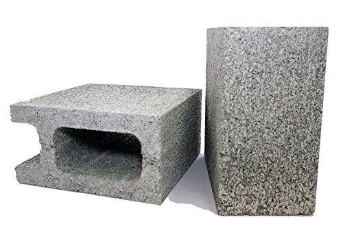 久保田セメント工業 コンクリートブロック 10cm 1/2コーナー 2個入り 1010060(2P) グレー