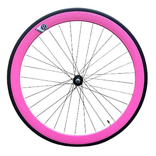 Set Ruedas Fixie 700 contrapedal (Rosa)